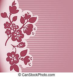 flowering, pasiaste tło, gałąź