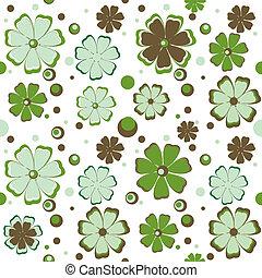 flowers., tło, zielony