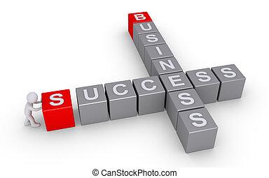 formuje, krzyżówka, handlowy, powodzenie, osoba