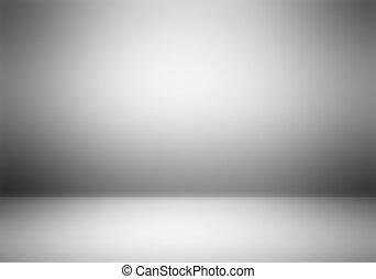 fotograf, jasny, studio, opróżniać, tło.