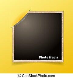 fotografia, frame., projektować, decoretive, template., grunge, brzeg