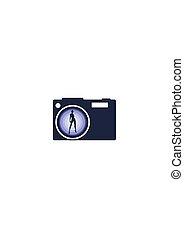 fotografia, icon., aparat fotograficzny