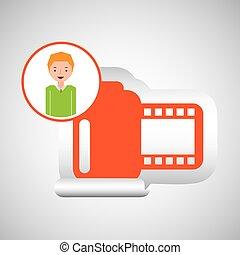 fotografia, rysunek, aparat fotograficzny, projektować, facet, ewidencja