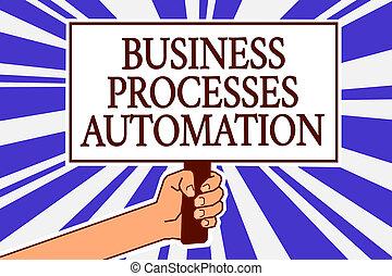 fotografia, znak, protest, spełniony, wiadomość, błękitny, promienie, automation., tło., dzierżawa, tekst, konceptualny, transformacja, osiągnąć, handlowy, afisz, pokaz, cyfrowy, ręka, ważny, człowiek, procesy