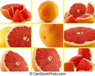 fotografie, komplet, grapefruit.