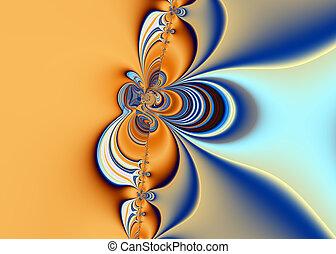 fractal, sztuka, piękny, abstrakcyjny