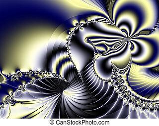 fractal, sztuka, piękny, tło, oryginał
