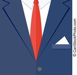 fragment, człowiek, garnitur