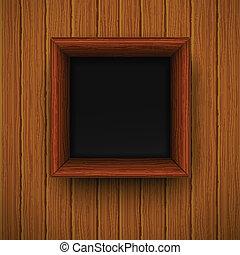 framework., ilustracja, drewniany, wektor