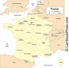 francja, kraje, okoliczny, zakresy