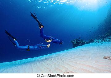 freedivers, morze