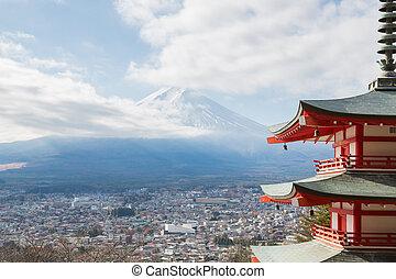 fuji, górski krajobraz
