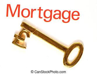 funt, złoty, hipoteka, klucz