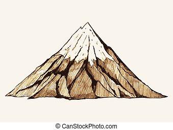 góra, śnieżny