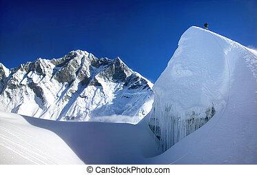 góra, himalaje, wspinaczkowy