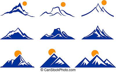 góra, ikony