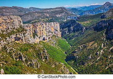 góra, kanion, francja