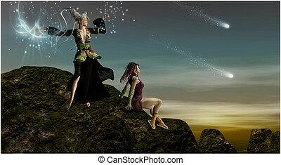 góra, magia, maidens
