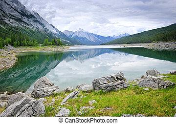 góra, narodowy park, jezioro, jaspis