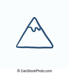 góra, rys, icon.