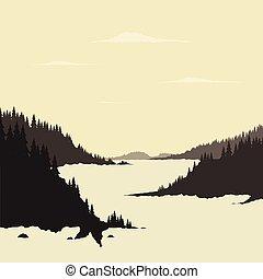 góra, rzeka