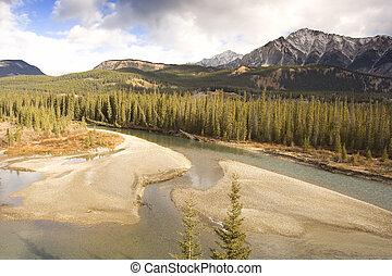góra, rzeka dolina