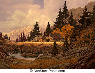 góra, stodoła