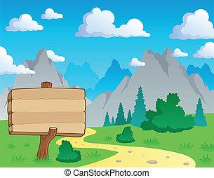 góra, temat, 2, krajobraz