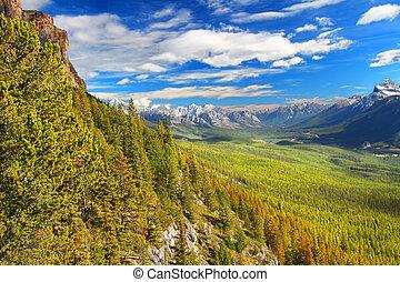 góra, zamek, park, krajowy, banff