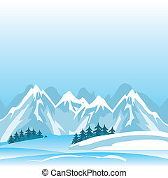 góra, zima
