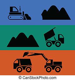 górnictwo, przewóz, piasek