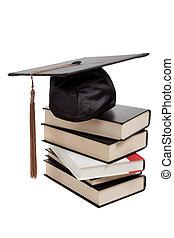 górny, korona, skala, książki, biały, stóg