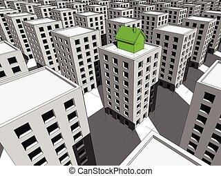 górny, mieszkania, kloc, dom