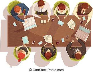 górny, pojęcie, spotkanie, handlowy, prospekt