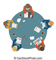 górny, spotkanie, handlowy, prospekt