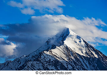 górski szczyt, snowcapped, himalaje