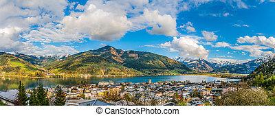 górskie jezioro, zell, austria, zeller, zobaczcie, krajobraz