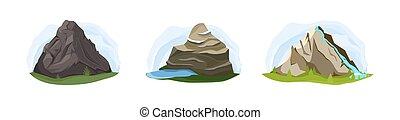 góry, komplet, natura
