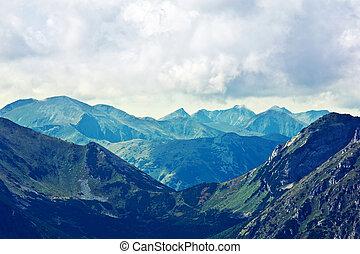 góry, krajobraz, natura