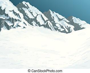 góry, zima