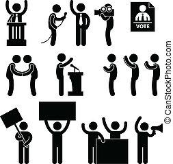głos, polityk, wybór, sprawozdawca