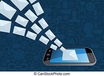 głoska kupowanie, bryzg, email, ikona