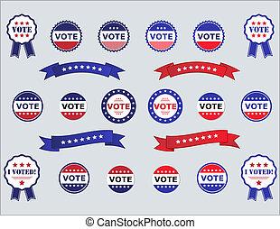 głosowanie, majchry, symbole