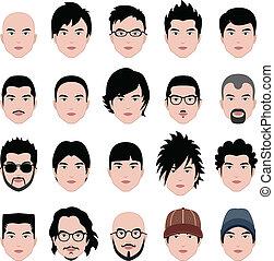 głowa, fryzura, twarz, włosy, samiec, człowiek