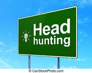 głowa, zbawczy, finanse, polowanie, energia, znak, lampa, concept:, tło, droga