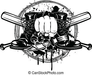 gacki, czyścibut, krzyżowany, nóż, knuckleduster