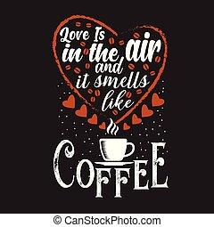 gadka, kawa, dobry, zacytować, projektować, druk