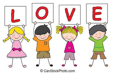 gadka, miłość, dzieci, znak
