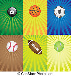 games., komplet, sport, piłki