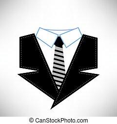 garnitur, handlowy, ikona